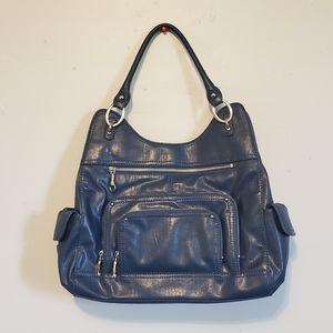 Franco Sarto Navy Blue Handbag & Matching Wallet